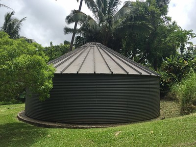 Huelo off grid homes for sale, Maui's north shore, water catchment holding tank