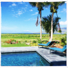 oceanfront south shore Maui home with pool for sale